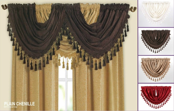 Luxury Chenille Curtain Swags