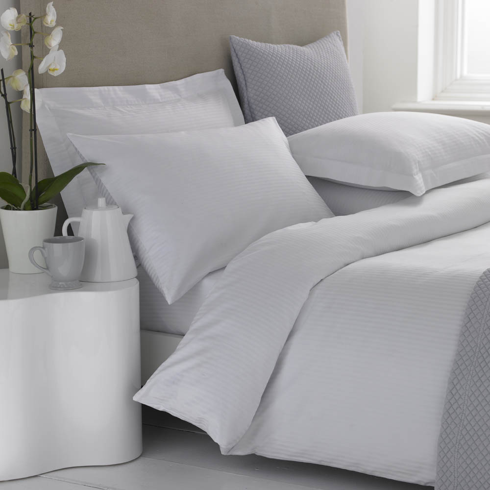 Egyptian cotton duvet covers 500 tc micro stripe from for Best egyptian cotton bed sheets