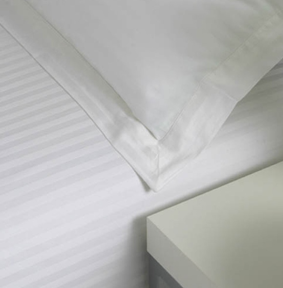 Egyptian Cotton Flat Sheets 600 Tc Satin Stripe From