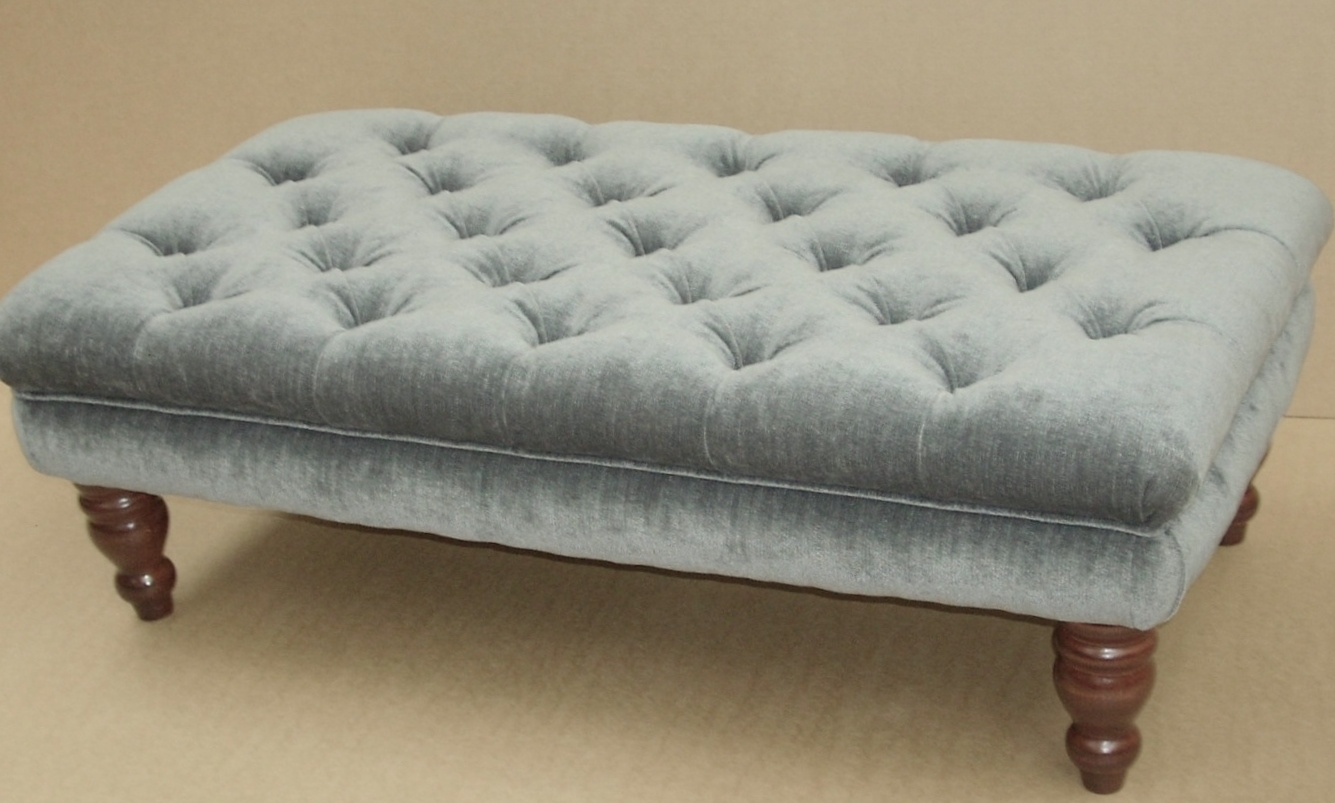 Chenille Footstool From Century Textiles