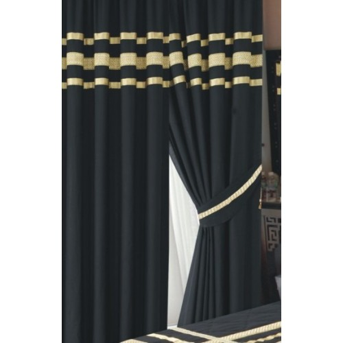 Luxury Glamour Combed Cotton Lined Curtains Set From