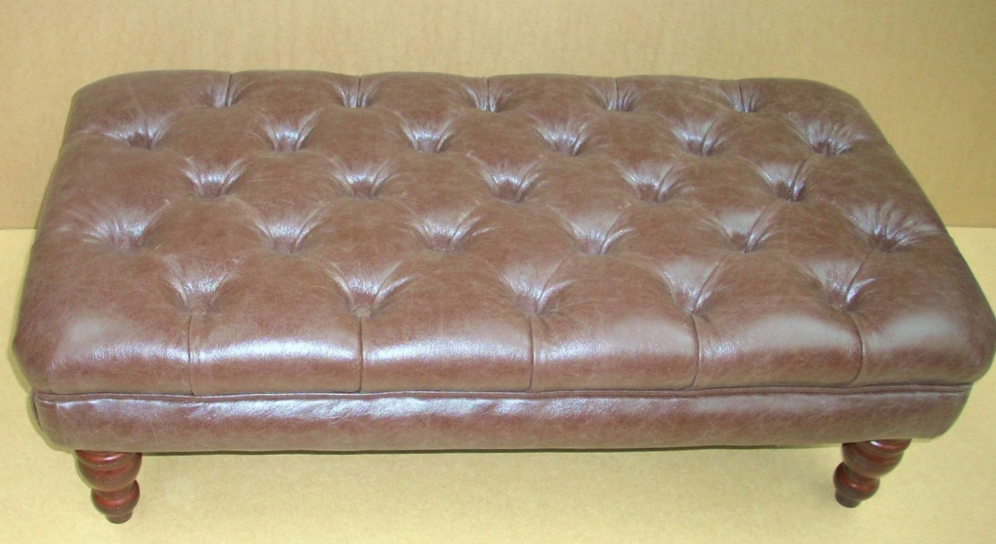 Faux Leather Footstool From Century Textiles