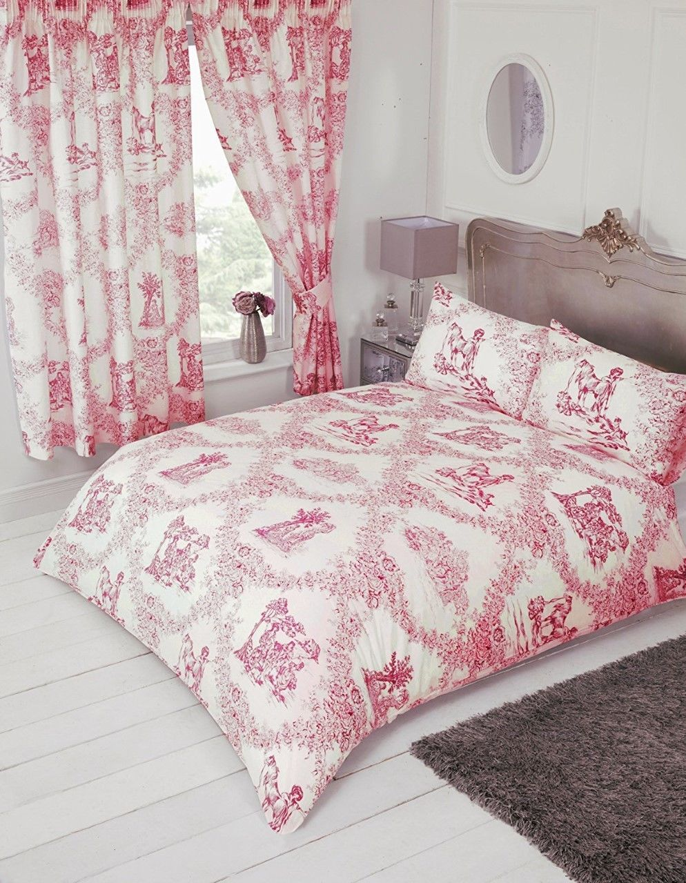 traditional toile de jouy duvet cover set from century textiles. Black Bedroom Furniture Sets. Home Design Ideas