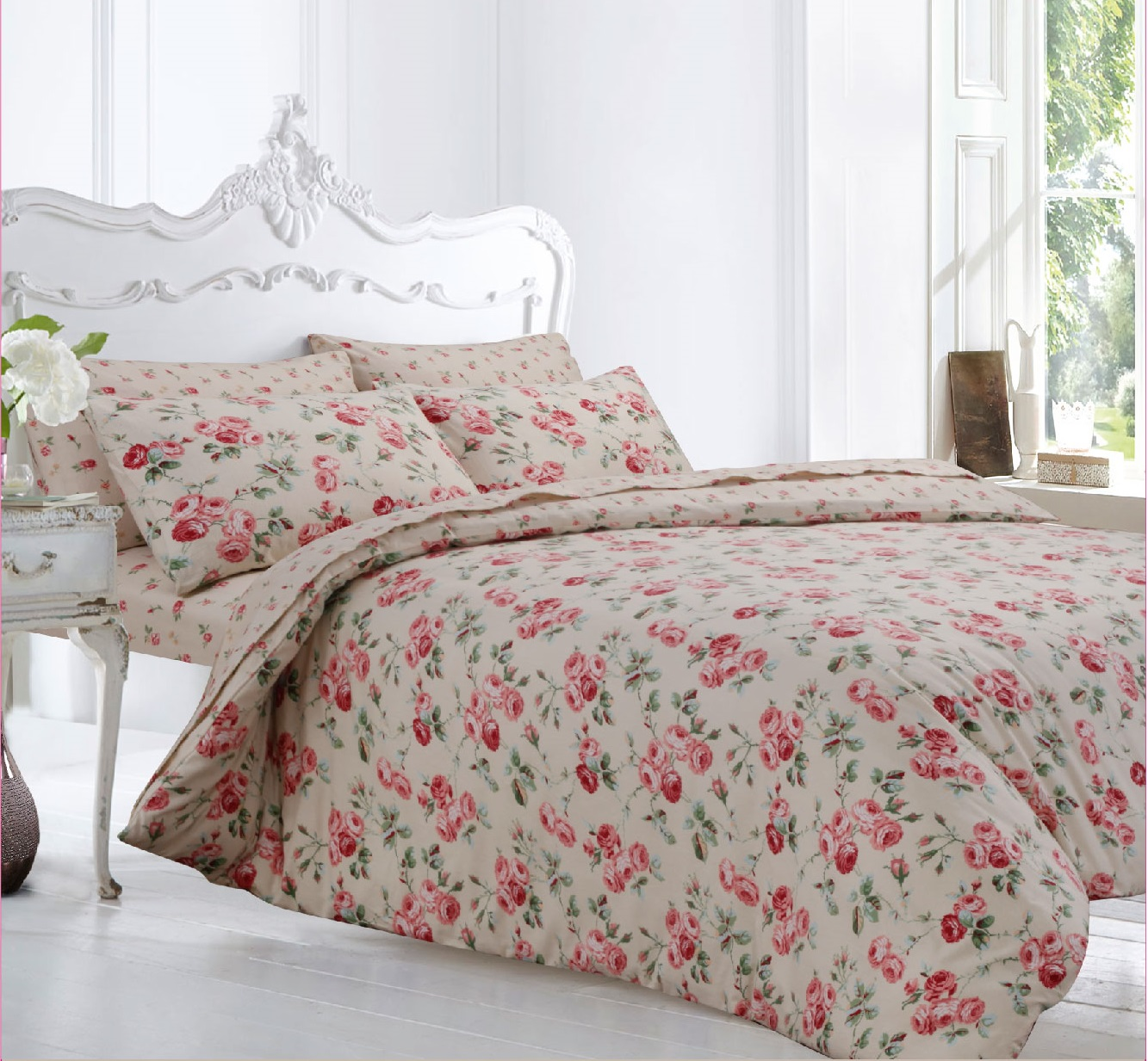 Peony Flannelette Duvet Cover Set From Century Textiles